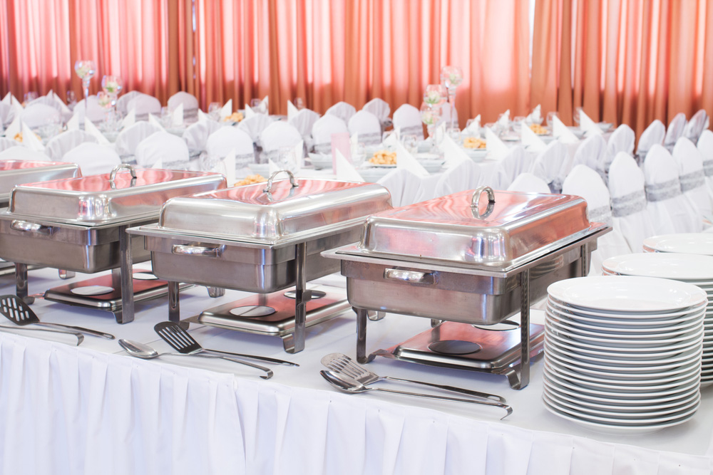 Bankettsaal mit Catering Buffet