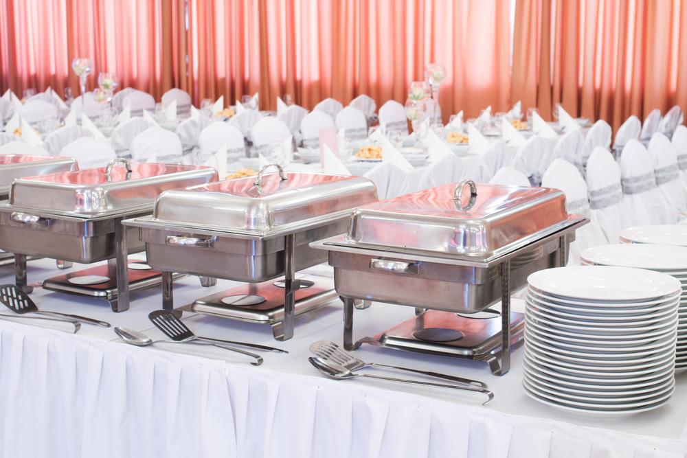 Bankettsaal mit Catering Buffet